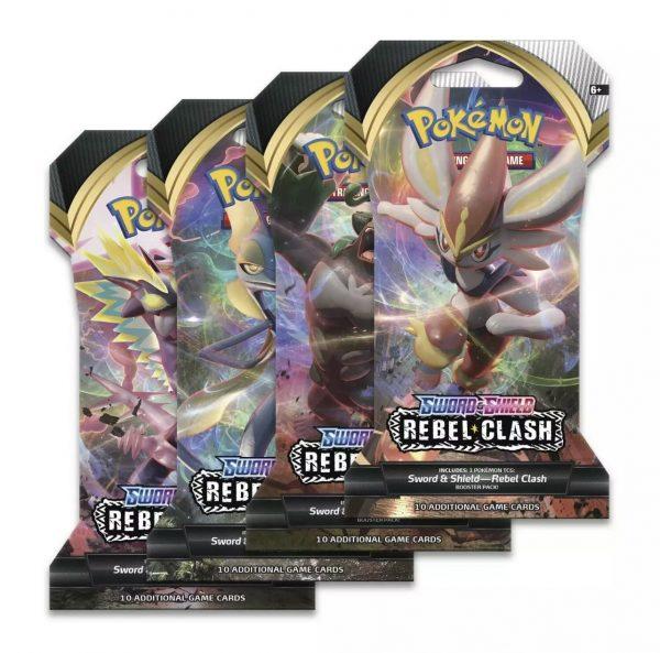 Pokemon TCG - Sword & Shield Rebel Clash Sleeved Booster Pack Art Set